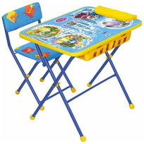 Набор детской мебели ″Никки.Волшебный мир принцесс″ складной, с большим пеналом, мягкий стул КУ2П/16 купить оптом и в розницу