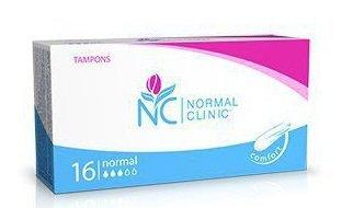 Тампоны гигиенические NORMAL cliniс - normal - 3 капли 16шт купить оптом и в розницу