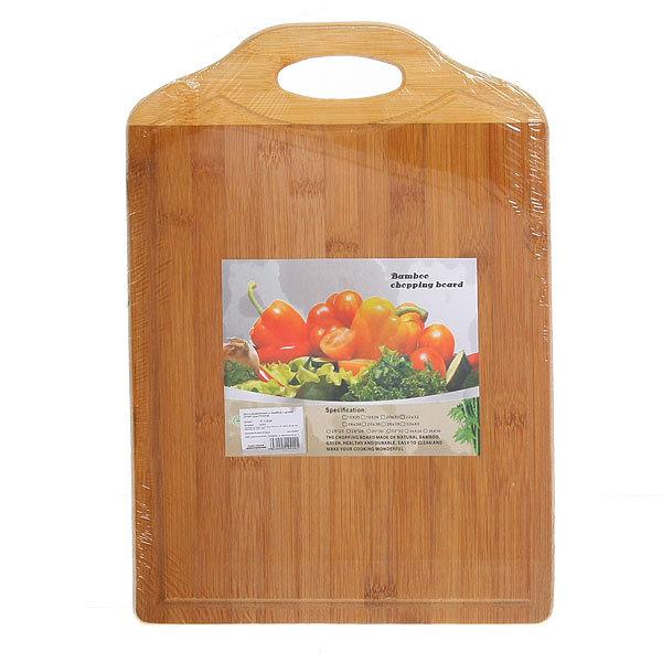 Доска разделочная из бамбука с ручкой 27*39*1,5см PTC2739 купить оптом и в розницу