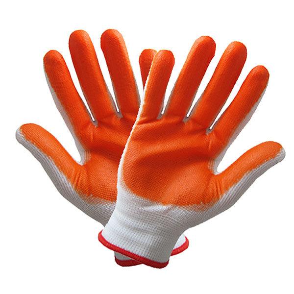 Перчатки нейлоновые с ПВХ покрытием полуоблитые 10 размер А-2 купить оптом и в розницу
