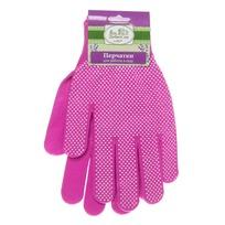 ДоброСад Перчатки нейлоновые с ПВХ покрытием 8 размер розовые А-3 купить оптом и в розницу