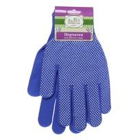 Перчатки нейлоновые с ПВХ покрытием 8 размер голубые А-4 купить оптом и в розницу