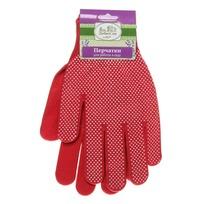 Перчатки нейлоновые с ПВХ покрытием 8 размер красные А-6 купить оптом и в розницу