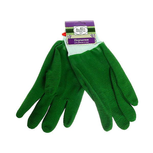 Перчатки нейлоновые с ПВХ покрытием облитые размер 10 ″ДоброСад″ купить оптом и в розницу