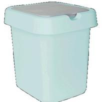 """Контейнер для мусора """"Квадра"""" 9 л голубой пастельный * 8 купить оптом и в розницу"""