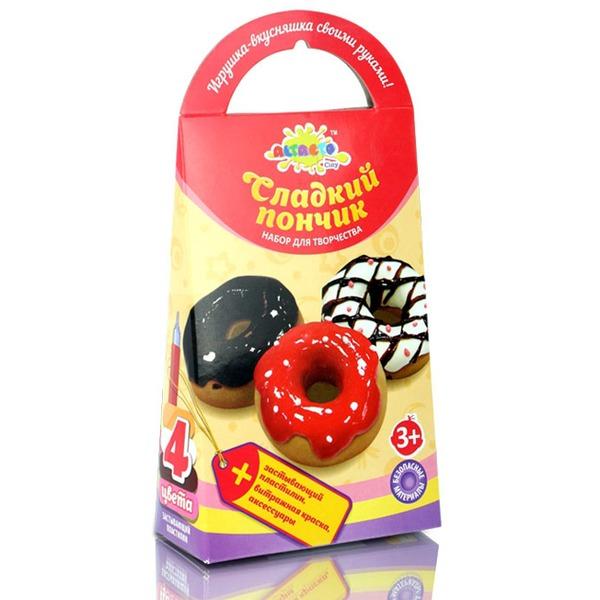 Набор ДТ Шариковый пластилин Сладкий пончик  застывающий ACL1502-119 купить оптом и в розницу