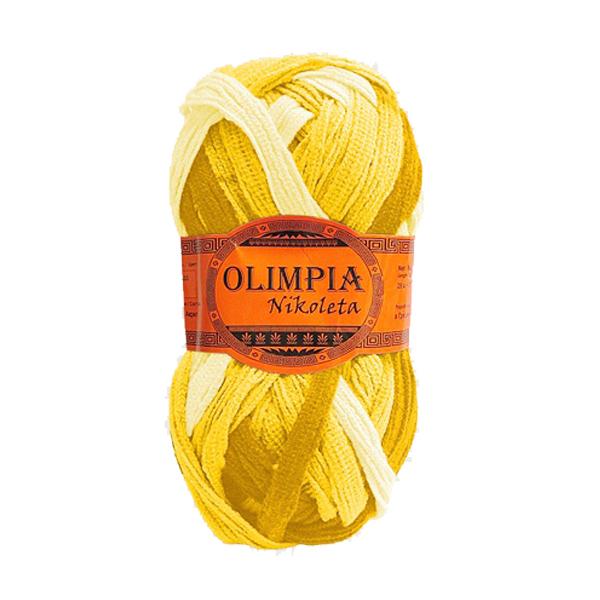 Пряжа для вязания Olimpia Nikoleta цв.NK02 банановый крем 500г 5шт купить оптом и в розницу