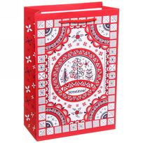 Пакет подарочный 15х22 см вертикальный ″Успехов″, Мезенская роспись купить оптом и в розницу