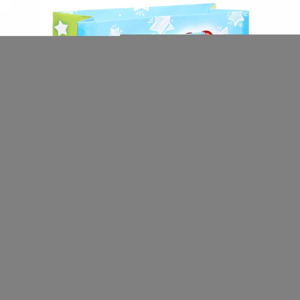 Пакет 15х22 см глянцевый ″Кукареку! Подарок несу!″, Сказочный петушок, вертикальный купить оптом и в розницу