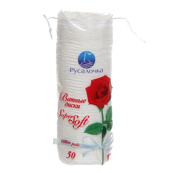 Ватные диски 50шт Super Soft Роза Русалочка купить оптом и в розницу