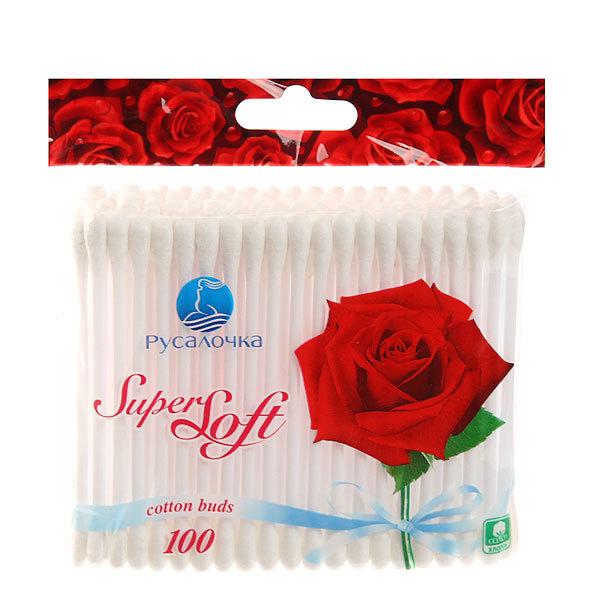 Ватные палочки 100шт ″РУСАЛОЧКА″ Super Soft в ZIP упаковке купить оптом и в розницу