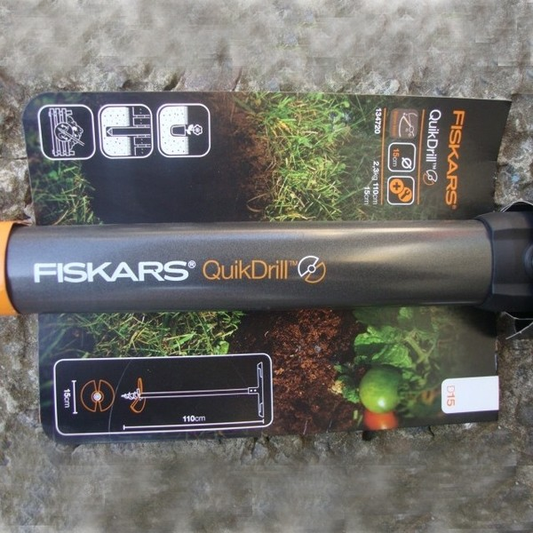 Бур садовый QuikDrill FISKARS, размер L (диам.20 см, вес 2,5 кг) купить оптом и в розницу