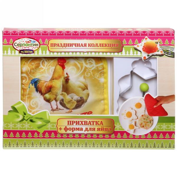 Набор форма для яичницы и прихватка ″Приходите в мой дом!″, Куриное семейство купить оптом и в розницу