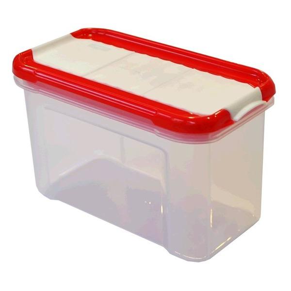Банка для сыпучих продуктов с дозатором Krupa 0,75 л чери*21 купить оптом и в розницу