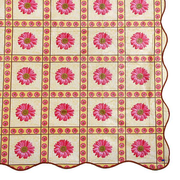 Скатерть 142*228см ″Розовая гербера″, пвх купить оптом и в розницу