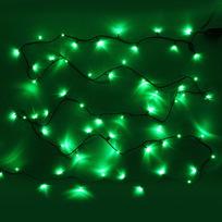 Гирлянда светодиодная 9,5м, 100 ламп LED, Зеленый, 8 реж, зелен.пров., с возмож. соединен. купить оптом и в розницу