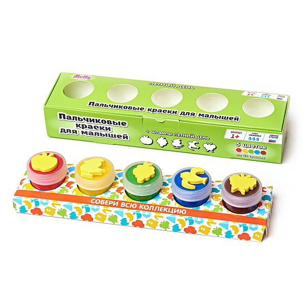 Набор ДТ Пальчиковые краски Летний день со штампиком 5 цв. FP-04 купить оптом и в розницу