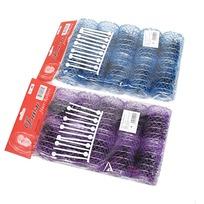 Бигуди пластмассовые со шпильками 6шт, цвет микс, d=45мм купить оптом и в розницу