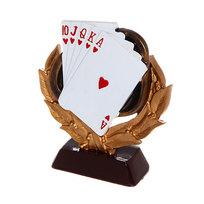 Кубок из полистоуна Карты (14 см) купить оптом и в розницу