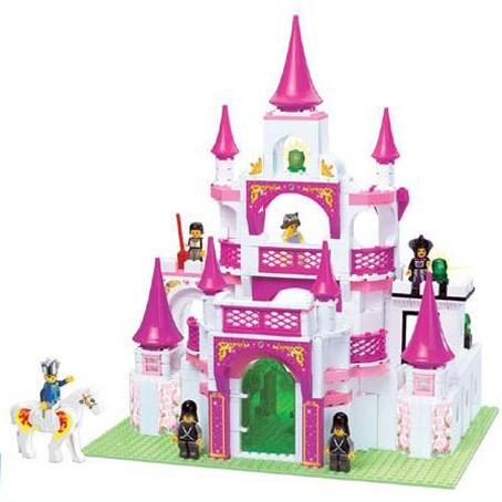 Констр-р 38-0151 Замок для девочек 508 дет. в кор. купить оптом и в розницу