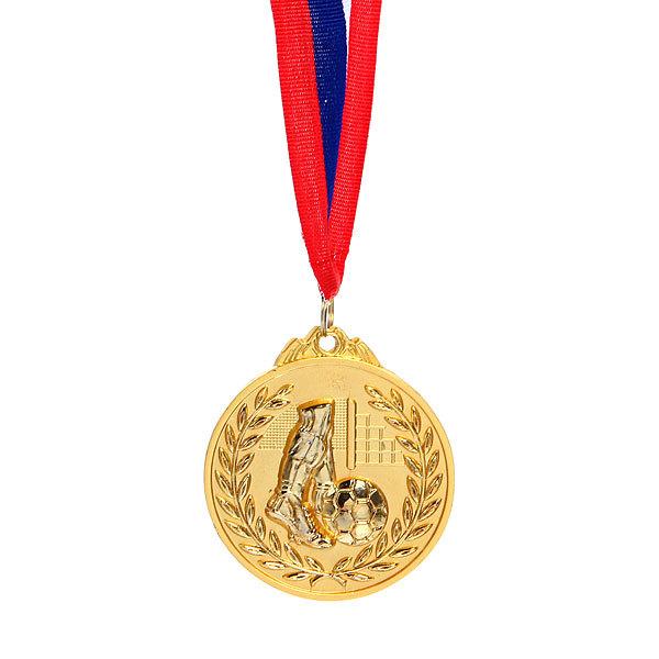 Медаль ″Футбол″ - 1 место (6,5см, два цвета) купить оптом и в розницу