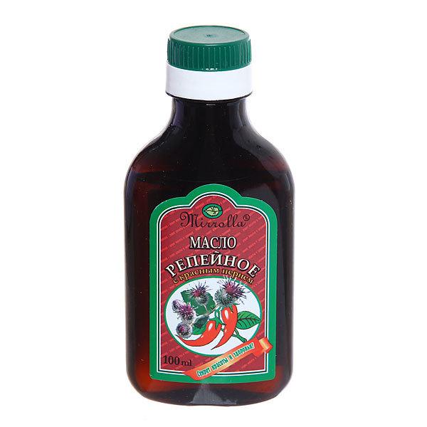 Репейное масло «Mirrolla» с красным Перцем 100 мл купить оптом и в розницу