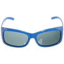 Очки солнцезащитные детские, форма прямоугольная ″Лето″, однотонные, фигурные душки с блестками, микс 6 цветов купить оптом и в розницу