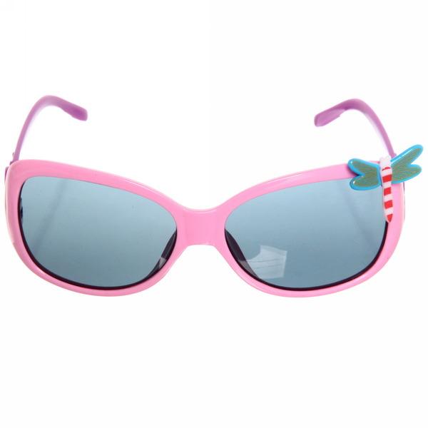 Очки солнцезащитные детские, форма бабочка ″Чарли″, фигурные дужки, микс 6 цветов купить оптом и в розницу