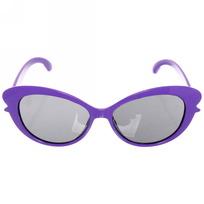 Очки солнцезащитные детские, форма овальная ″Яркое лето - бантик″, однотонные, микс 6 цветов купить оптом и в розницу
