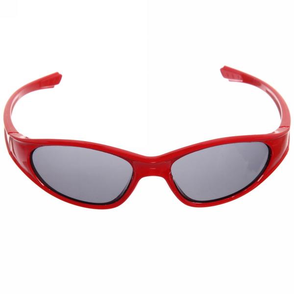 Очки солнцезащитные детские, форма прямоугольная ″Спорт″, однотонные, глянцевые, на дужке узор, микс 6 цветов купить оптом и в розницу