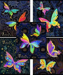 """Тетрадь 48л.кл.скрепка АЛЬТ, """"Радужные бабочки"""",5 видов купить оптом и в розницу"""