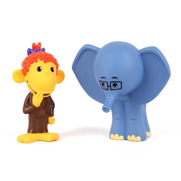 Рез. Мартышка и слоник 9 см. 5978GT купить оптом и в розницу
