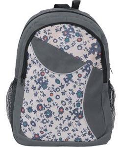 Рюкзак школьный PROFF X-line 43.5*28*20.5 см, 1 отд. на молнии, 3 внеш. карм.., цветы черный-серый, c орто.спинкой купить оптом и в розницу