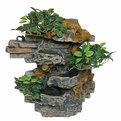 Фонтан из полистоуна ″Деревья на скалах″ 32*14*38см настенный 201-S купить оптом и в розницу