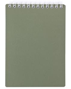 """Блокнот А7 80л.кл.спираль,пласт.обл.HATBER, """"Metallic Темно-зеленый"""" купить оптом и в розницу"""