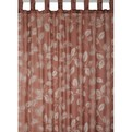 Штора с выжженным узором ″Листья″ шоколадная 145*250, арт.61097/24/4 купить оптом и в розницу