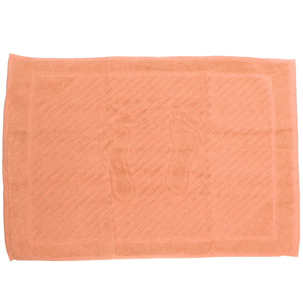 Махровое полотенце для ног 50*70см оранжевое купить оптом и в розницу