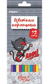 Цв.каранд.12цв PROFF Kitties in the cities к/у с европодв. купить оптом и в розницу