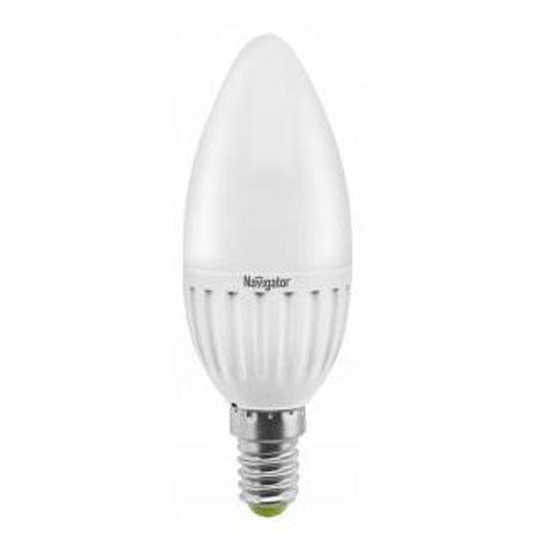 Лампа светодиодная Navigator Standard NLL-P-C37-5-230-4K-E14-FRсвеча матов.,аналог 40Вт (10/100) купить оптом и в розницу