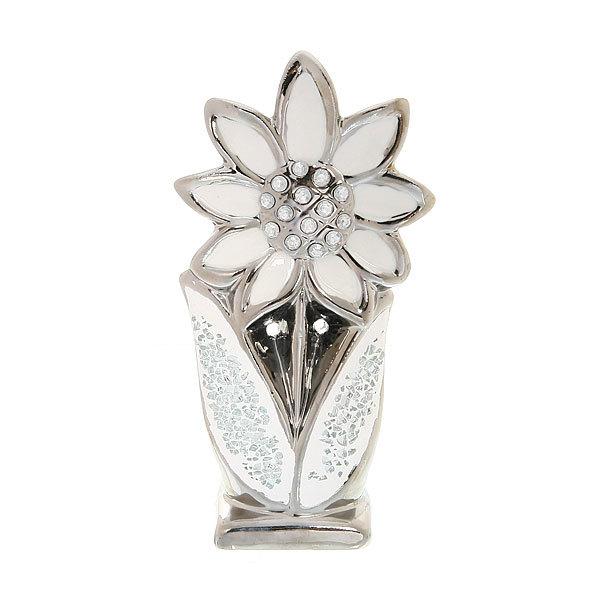 Статуэтка из керамики ″Серебряный цветок″ 19,5*10см купить оптом и в розницу