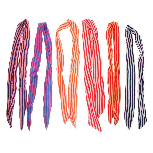 Ободок для волос гибкий ″Коллекция Барбара - полосочки″, цвет микс купить оптом и в розницу