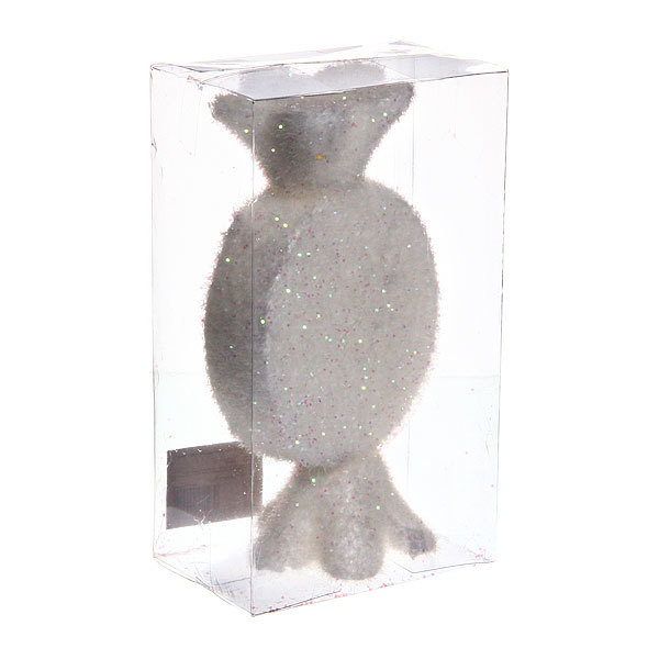 Ёлочная игрушка 9см ″Леденец снег″ купить оптом и в розницу