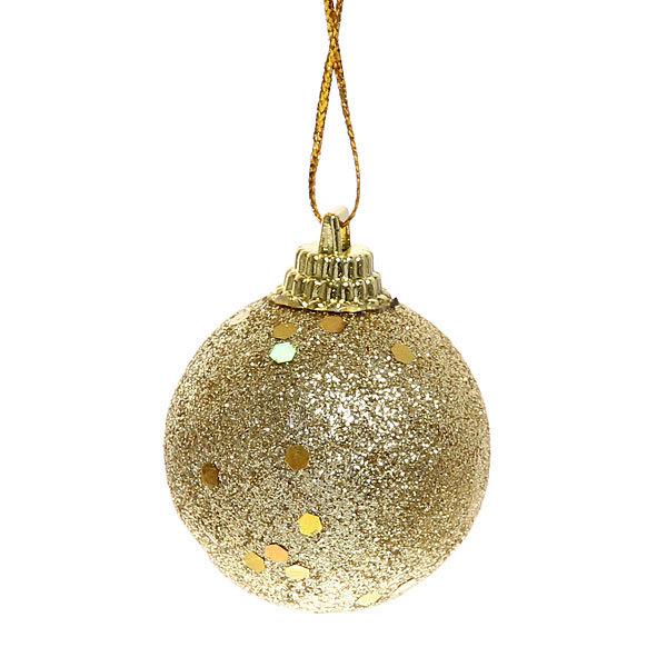 Новогодние шары 4 см ″Золото″ набор 6 шт купить оптом и в розницу