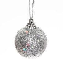 Новогодние шары 4 см ″Серебро″ набор 6 шт купить оптом и в розницу