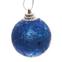 Новогодние шары 4 см ″Сапфир″ набор 6 шт, синий купить оптом и в розницу