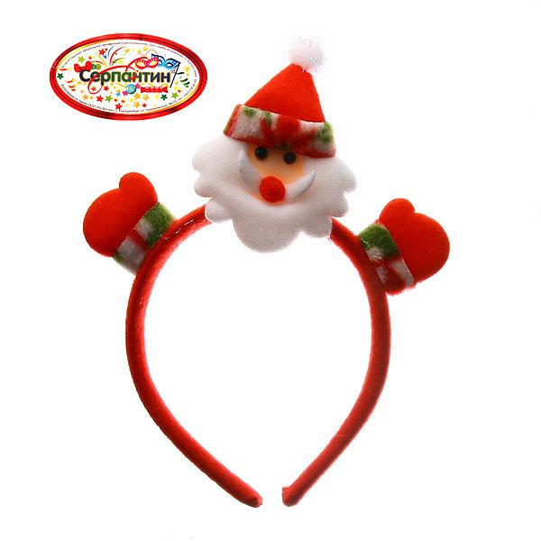 Ободок карнавальный ″Дед Мороз в варежках″ 22*17см купить оптом и в розницу