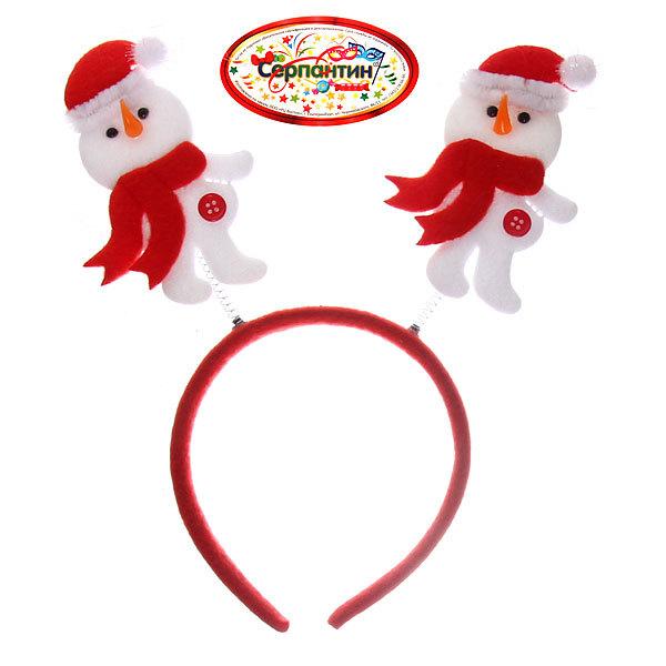Ободок карнавальный ″Снеговичок в шарфике″ 28*17см купить оптом и в розницу