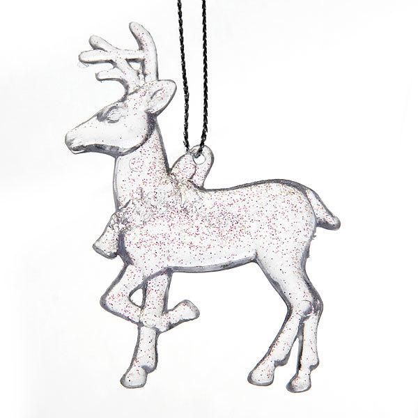 Ёлочные игрушки акриловые, набор 3шт, 19*3см ″Олень с олененятами″ купить оптом и в розницу