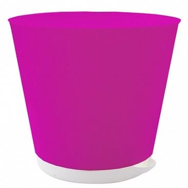 Горшок для цветов Крит D 120 mm с системой прикорневого полива 0,7л фиолетов*16 купить оптом и в розницу