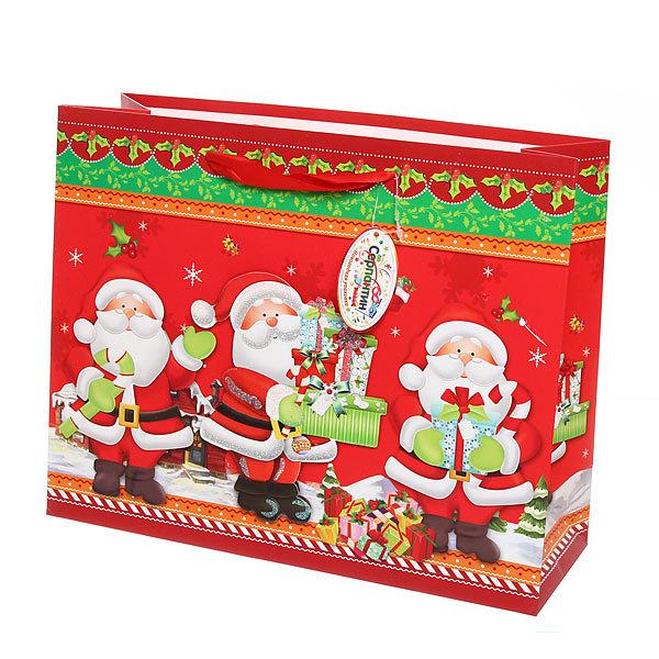 Пакет подарочный 32х25,5х11 см ″Новогодний″ 3D купить оптом и в розницу